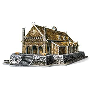 Wrebbit 3D W3D-2003 Edoras Golden Hall Lord Of The Rings - Puzzle en 3D, diseño de Edoras