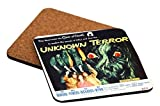 Rikki Knight Vintage Movie Posters Art Unknown Terror Design Square Beer Coasters