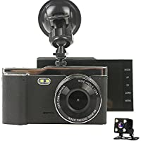 SKydot 4.0 Car Dash Cam 170 Degree Dashboard Cameras Full HD 1080P DVR With Front And Rear Night Vision Backup Camera G-Sensor , WDR, Parking Guard, Loop Recording Auto Video Recorder