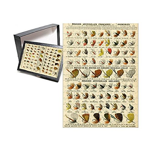 252 Piece Puzzle of French and English artificial fishing flies (14397558)