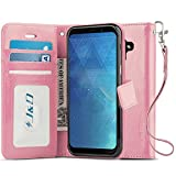 Galaxy A8 Plus 2019 Case, J&D [RFID Blocking Wallet] [Slim Fit] Heavy Duty Protective Shock Resistant Flip Cover Wallet Case for Samsung Galaxy A8 Plus / A8+ 2019 - [Not for Galaxy A8 2019]