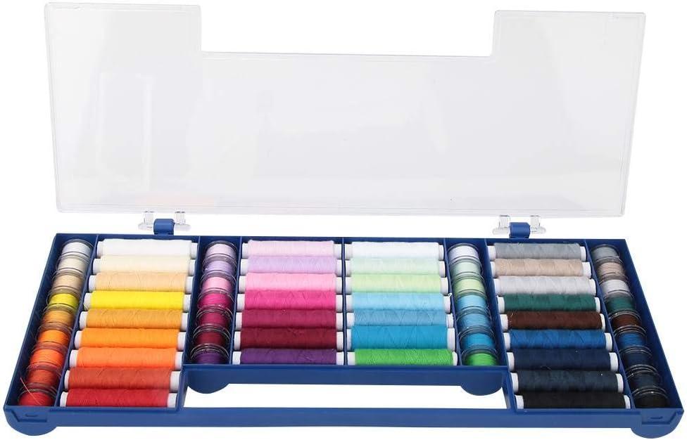Kit de Hilos de Coser de bobinas, 32 Colores 64 Kit de Hilos de Coser Caja de Almacenamiento Accesorios para máquinas de Coser Kit de Herramientas de Costura para Coser a Mano y a máquina