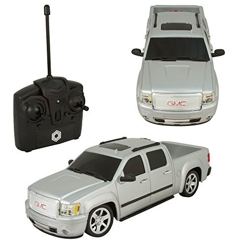 Remote Control RC GMC 4 Door Pick Up Truck 1:24 Quick Speed Exceptional Detail - Grey (Pick Up Truck For Kids)