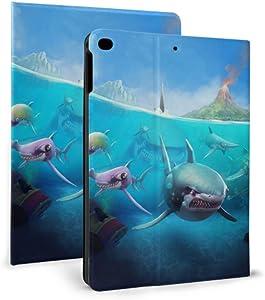 Ipad Kids Protective Case Hungry Shark World X iOS Android Shark Tablet Ipad Case for Ipad Mini 4/Mini 5/2018 6th/2017 5th/air/air 2 with Auto Wake/Sleep Magnetic Funny Ipad Case
