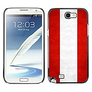 Shell-Star ( National Flag Series-Austria ) Snap On Hard Protective Case For Samsung Galaxy Note 2 II / N7100