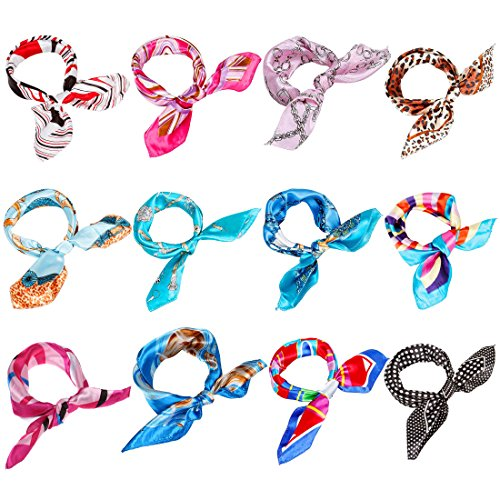 BMC Fashionable Chic 12pc Mixed Swirly Chains Patterns and Colors Womens Scarf Accessory Set