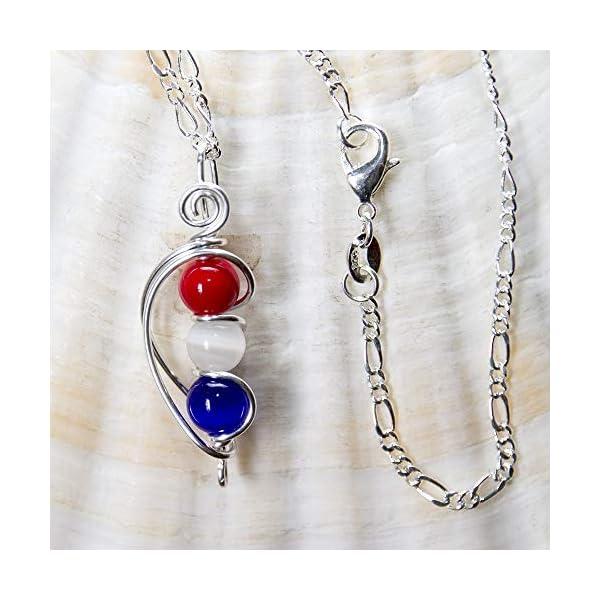 US Flag Patriotic Handmade Necklace