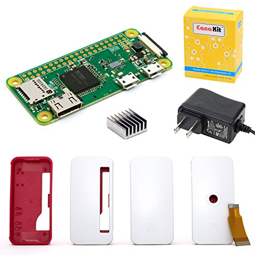 CanaKit Raspberry Pi Zero W (Wireless) with Official Case and Power Supply