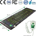HL HEALTHYLINE - Far Infrared Jade Heating Mat - 72inL x 24inW (Light and Firm) - Easy to Roll-up - Negative Ions