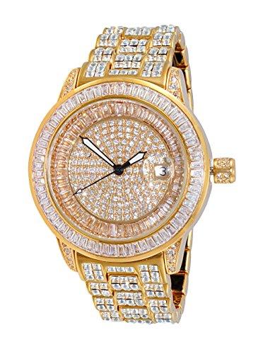 Adee Kaye Men's Quartz Brass Dress Watch, Color Gold-Toned (Model: ()