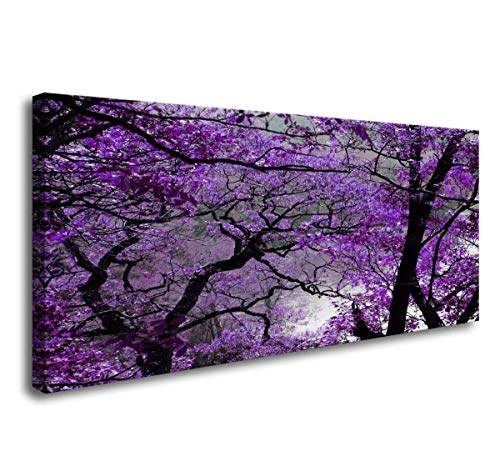Canvas Prints Purple Tree Framed Canvas Wall Art for Home Decor Perfect Wall Purple Scenery Decorations for Living Room Bedroom Office Each Panel