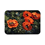 Caroline's Treasures Poppies by Daphne Baxter Glass Cutting Board, Large, Multicolor