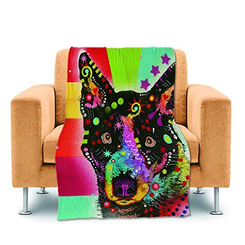 Cute Blue Heeler Dog Home Throw Blanket Bed Sofa Couch Blank
