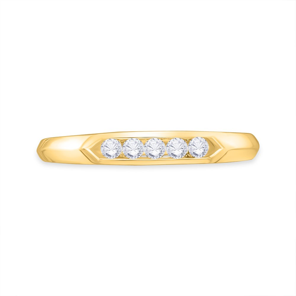 Size-3.25 Diamond Wedding Band in 14K Pink Gold G-H,I2-I3 1//20 cttw,