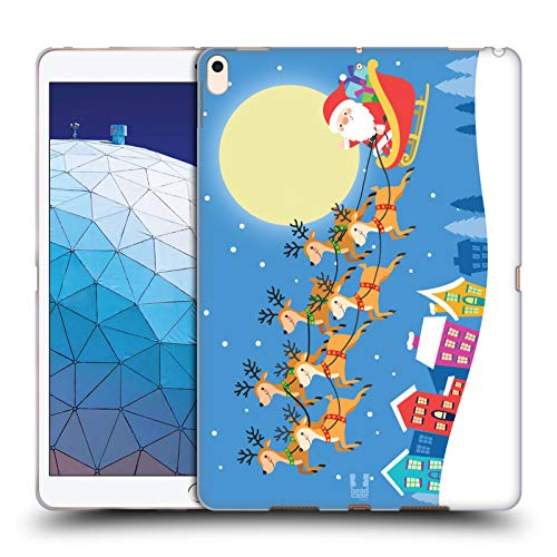Head Case Designs Santa On His Sleigh Jolly Christmas Toons Soft Gel Case Compatible for iPad Air (2019)