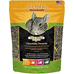 Sunseed 49130 Vita Prima Sunscription Chinchilla Food - High Fiber Timothy Formula, 3 LBS
