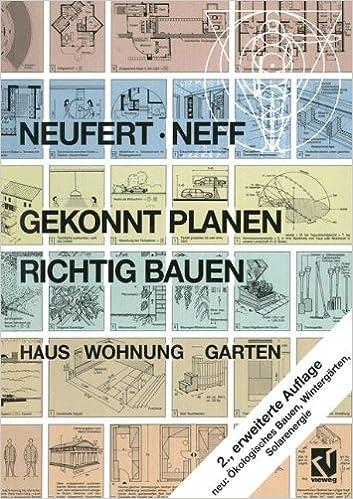 Gekonnt Planen   Richtig Bauen: Haus Wohnung Garten (German Edition): Peter  Neufert, Ludwig Neff: 9783322969217: Amazon.com: Books