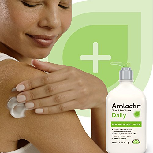 51zuvEQxuLL - AmLactin Daily Moisturizing Body Lotion , 14.1 Ounce (Pack of 1) Bottle with Pump, Paraben Free