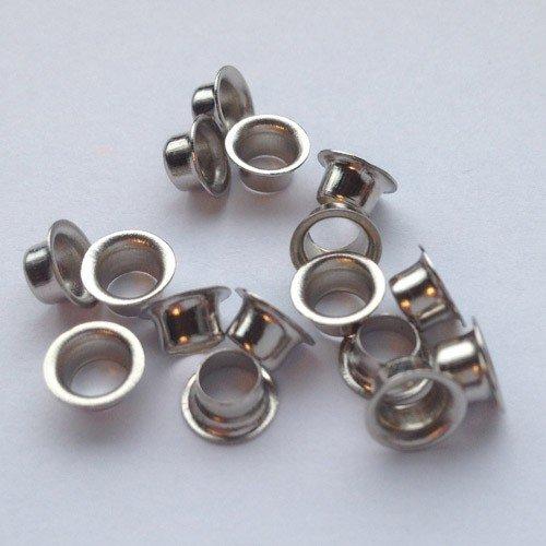 oesen24. de Ni 245 500 Eyelets Nickel Plated for 30 Eisenthaler Eyelet Setter –  Ringrollend oesen24.de NI-245