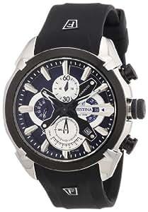Festina F6819/2 - Reloj de pulsera con cronógrafo para hombre (mecanismo de cuarzo, esfera azul y correa de caucho negro)
