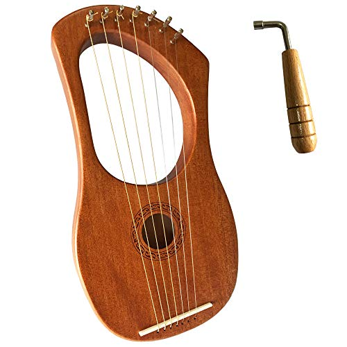 Luvay Lyre Harp - Orchestral Strings Instrument, with Tuning Wrench