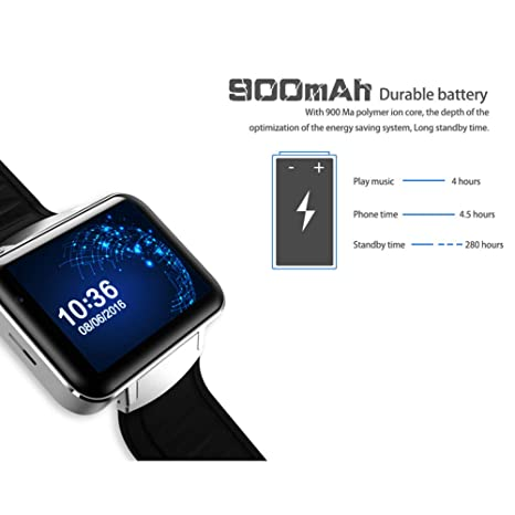 AIJIE Relojes Inteligentes, DM98 Bluetooth Smart Watch 2.2 ...