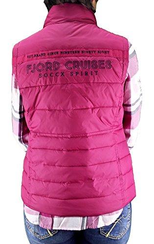 SOCCX - Chaleco - chaqueta guateada - para mujer frutas del bosque