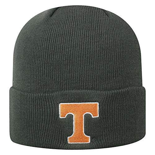 Top of the World NCAA Tennessee Volunteers Men's Winter Knit Cuffed Charcoal Hat, -