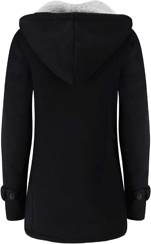 Verdusa Womens Slim Skinny Winter Warm Coat Hooded Jacket Outerwear