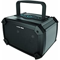 Sharper Image Rugged & Durable Bluetooth Speaker, Portable & Rechargeable (Black)
