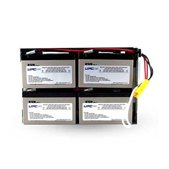 """UPC RBC24 Replacement Battery Cartridge 1 Buy only Genuine UPC Products! Products manufactured by UPC says """"Ships from and sold by Amazon.com"""" or """"Ships from and sold by UPC"""" only! Sealed and leak-proof battery made in America.  12 Volt Battery Plug & Play with expected battery life of 3-5-years"""