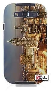 Atlanta, Georgia GA Skyline Nighttime Stunning Lights Unique Quality Hard Snap On Case for Samsung Galaxy S3 SIII i9300 (WHITE)