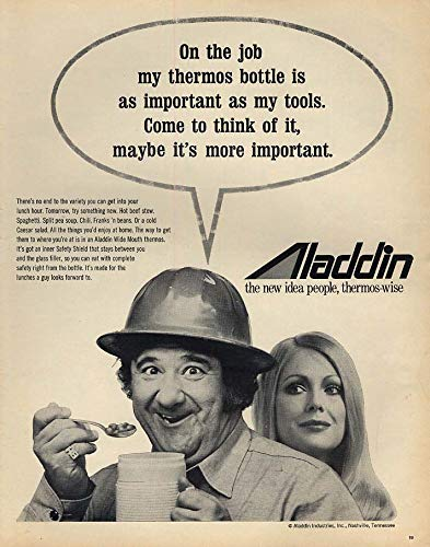 On the job my thermos bottle is important Buddy Hackett for Aladdin ad 1971 L