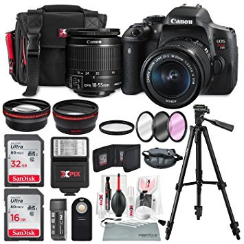 Canon EOS Rebel T6i + EF-S 18-55mm IS STM Lens Kit + Deluxe Bundle (14 Items) ()