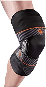 Shock Doctor Bionic Knee Brace with Compression Sleeve. BIO-LOGIX Hinged Lateral Support for Instabilities, Ligament, ACL, MCL, PCL, Meniscus Injury, Pain Relief, Recovery, Preventive Hyperextension. Semi Rigid Aluminum Hinge, Hard Brace. For Men and Women, Left or Right side. Heavy Duty