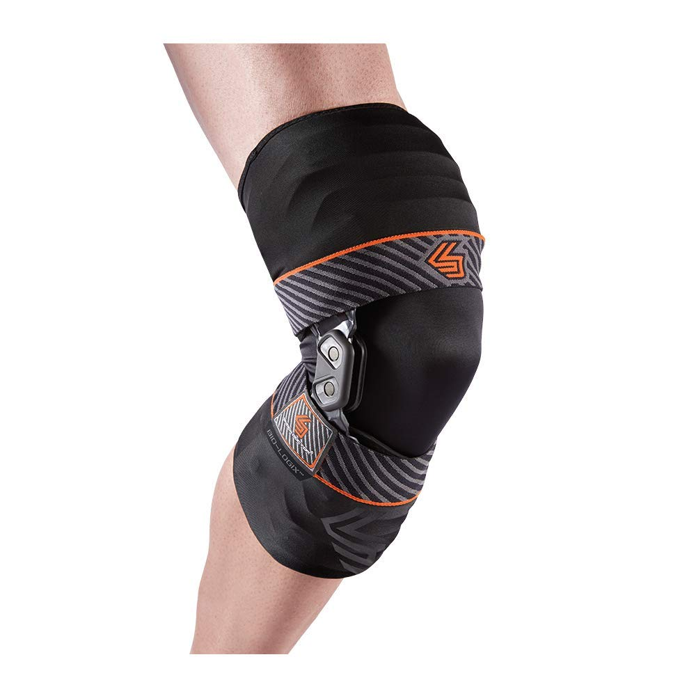 Shock Doctor 2090 Bio-Logix Knee Brace, Black, Left M