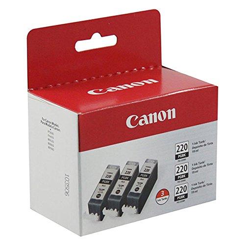 Canon 2945B004 (PGI-220BK) Black Ink Cartridge 3-Packs Standard Yield