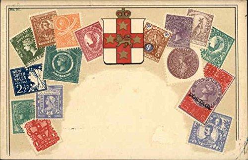Australian Stamps - New South Wales Stamp Postcards Original Vintage Postcard