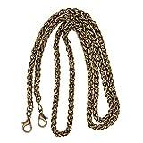 Fityle 120cm Metal Purse Chain Strap Handbag Clutch Crossbody Supplies - Antique Bronze, as described