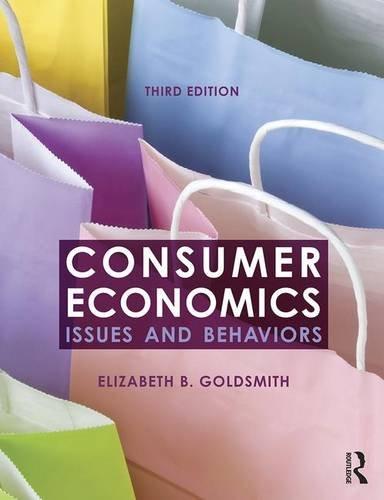 Consumer Economics: Issues and Behaviors