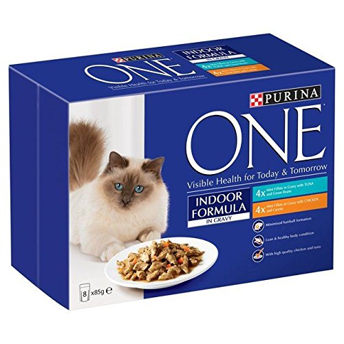 Purina One Indoor Tuna & Chicken in Gravy Pouch 8 x 85g