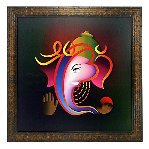 Indianara Lord Ganesha Paintings 1355 Without