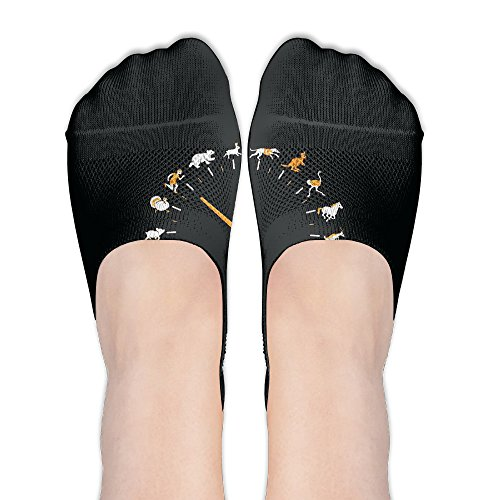 Price comparison product image BRYAN KERNS JR Clock Low Cut Ankle Socks Anti-Slip No Show Socks Comfortable