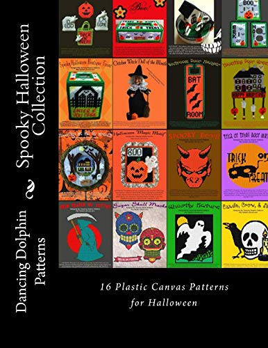 Spooky Halloween Collection: 16 Plastic Canvas Patterns for Halloween ()