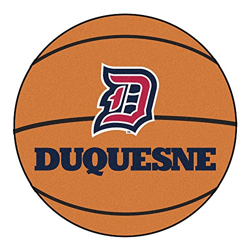 NCAA Duquesne University Dukes Basketball Shaped Mat Area Rug