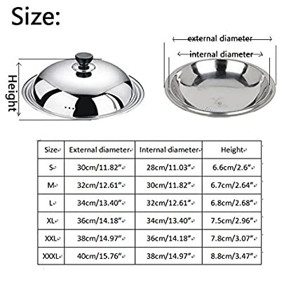 Vipe Endurance acero inoxidable tapa universal con inserto de cristal, se adapta Pans 11 - 15 pulgadas: Amazon.es: Hogar