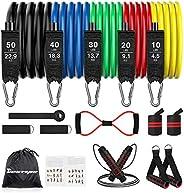 BESTOPE Resistance Bands Set 16Pcs Exercise Workout Bands Fitness for Elastique Entrainement with Handles, Ski