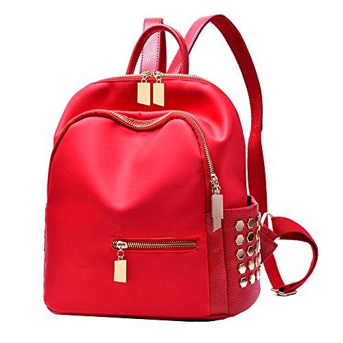 Anne - Bolso mochila  de Material Sintético para mujer Negro azul Red