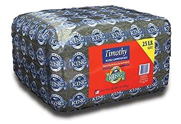 ALFALFA King Doble comprimido Timoteo HENO ANIMALES PEQUEÑOS Alimento 11.36kg