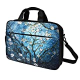 Meffort Inc 15 15.6 Inch Laptop Computer Shoulder & Hand Carrying Messenger Bag Briefcase - Vincent Van Gogh Almond Blossom